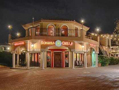 Sonrisa Grill - The Village Lake Las Vegas outside evening shot