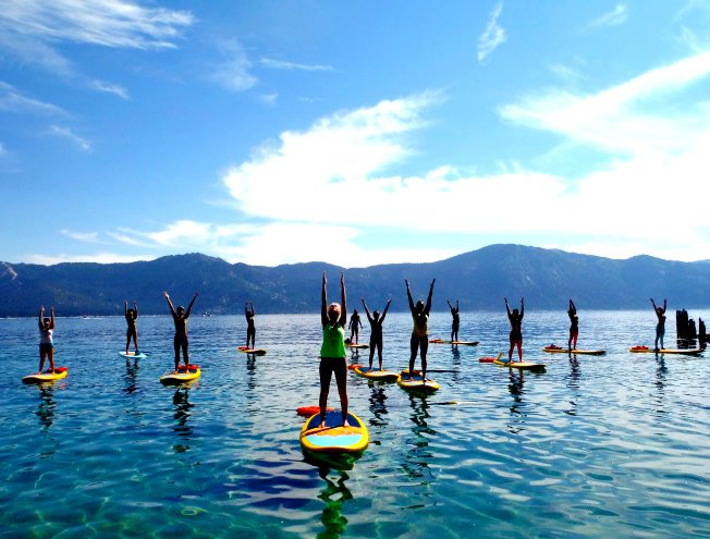 Aquaholic Sup Yoga at The Village Lake Las Vegas